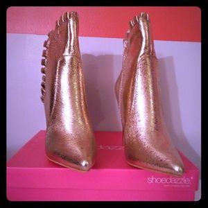 Gold Heeled booties